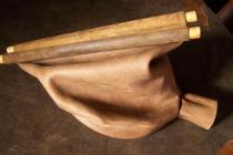 Soufflet de forge avec manches en bois